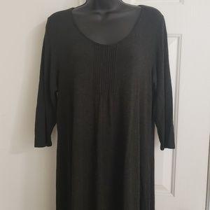 Eileen Fisher Long Sleeve Dark Grey Dress **Large